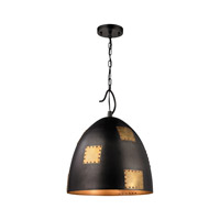 ELK Lighting Strasburg 3 Light Pendant in Weathered Iron with Antique Gold 14292/3