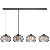 Yardley 4 Light 46 inch Oil Rubbed Bronze Pendant Ceiling Light, Linear Pan