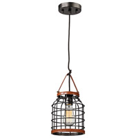 ELK Lighting Purcell 1 Light Pendant in Weathered Iron 14306/1