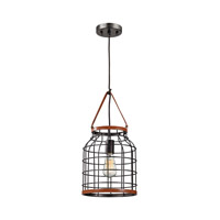 ELK Lighting Purcell 1 Light Pendant in Weathered Iron 14307/1