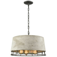 Brocca 4 Light 18 inch Silverdust Iron Chandelier Ceiling Light