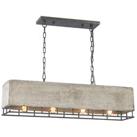 Elk Lighting Brocca 4 Light Chandelier in Silverdust Iron 14323/4