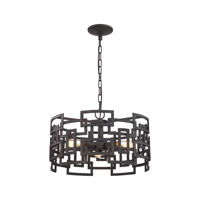 Elk Lighting Garriston 3 Light Chandelier in Clay Iron 14333/3