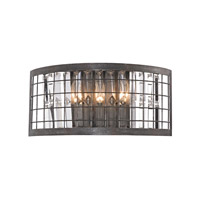 Nadina 3 Light 16 inch Silverdust Iron Wall Sconce Wall Light
