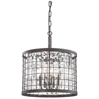 Elk Lighting Nadina 4 Light Chandelier in Silverdust Iron 14342/4
