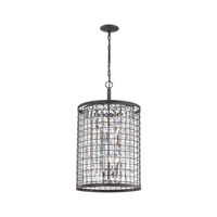 Nadina 4 Light 17 inch Silverdust Iron Chandelier Ceiling Light