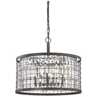 ELK 14344/6 Nadina 6 Light 22 inch Silverdust Iron Chandelier Ceiling Light
