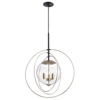 ELK 14386/3 Zonas 3 Light 23 inch Oil Rubbed Bronze with Polished Gold Chandelier Ceiling Light