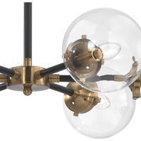 Elk 144326 boudreaux 6 light 28 inch matte blackantique gold elk 144326 boudreaux 6 light 28 inch matte blackantique gold chandelier ceiling aloadofball Image collections