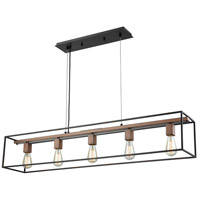Rigby 5 Light 48 inch Oil Rubbed Bronze with Tarnished Brass Chandelier Ceiling Light