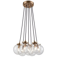 Boudreaux 7 Light 18 inch Satin Brass Chandelier Ceiling Light