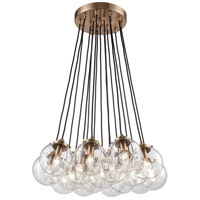 ELK 14466/17 Boudreaux 17 Light 29 inch Satin Black Chandelier Ceiling Light