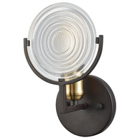 Ocular 1 Light 6 inch Oil Rubbed Bronze with Satin Brass Vanity Wall Light