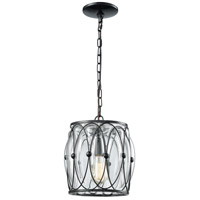 ELK 14520/1 Adriano 1 Light 9 inch Gloss Black Mini Pendant Ceiling Light