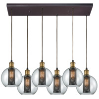 Bremington 6 Light 30 inch Oil Rubbed Bronze with Tarnished Brass Pendant Ceiling Light