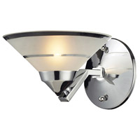 ELK 1470/1 Refraction 1 Light 7 inch Polished Chrome Wall Sconce Wall Light in Etched Clear