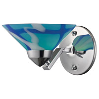 Refraction 1 Light 7 inch Polished Chrome Sconce Wall Light in Carribean Glass