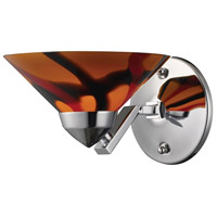 Refraction 1 Light 7 inch Polished Chrome Sconce Wall Light in Jasper Glass