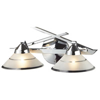 ELK 1471/2 Refraction 2 Light 16 inch Polished Chrome Vanity Light Wall Light in Etched Clear