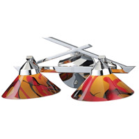 Refraction 2 Light 16 inch Polished Chrome Vanity Wall Light in Jasper Glass