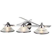 Refraction 3 Light 25 inch Polished Chrome Vanity Wall Light in Etched Clear Glass