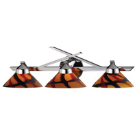 Refraction 3 Light 25 inch Polished Chrome Vanity Wall Light in Jasper Glass