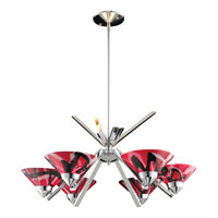 Refraction 6 Light 26 inch Polished Chrome Chandelier Ceiling Light in Mars Glass