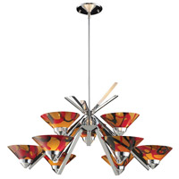 Refraction 9 Light 31 inch Polished Chrome Chandelier Ceiling Light in Jasper Glass