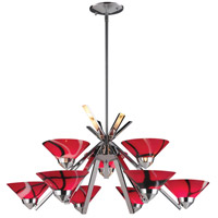 Refraction 9 Light 31 inch Polished Chrome Chandelier Ceiling Light in Mars Glass