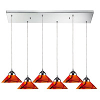 ELK Lighting Refraction 6 Light Pendant in Polished Chrome 1477/6RC-JAS