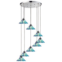 Refraction 8 Light Polished Chrome Pendant Ceiling Light