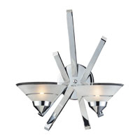 ELK Lighting Refraction 2 Light Sconce in Polished Chrome 1478/2 photo thumbnail