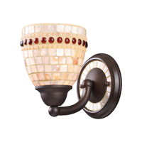 ELK 15010/1 Roxana 1 Light 6 inch Aged Bronze Sconce Wall Light