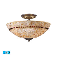 ELK Lighting Roxana 3 Light Semi-Flush Mount in Aged Bronze 15013/3-LED