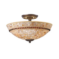 ELK Lighting Roxana 3 Light Semi-Flush Mount in Aged Bronze 15013/3