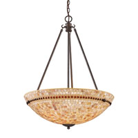 ELK Lighting Roxana 4 Light Pendant in Aged Bronze 15014/4