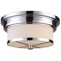 Signature 2 Light 13 inch Polished Chrome Flush Mount Ceiling Light in Standard