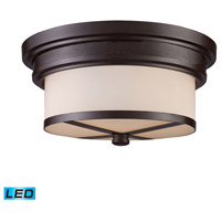 Signature LED 13 inch Oiled Bronze Flush Mount Ceiling Light
