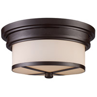 Signature 2 Light 13 inch Oiled Bronze Flush Mount Ceiling Light in Standard