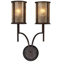 Barringer 2 Light 14 inch Aged Bronze Sconce Wall Light
