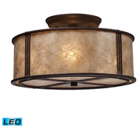 Barringer LED 13 inch Aged Bronze Semi-Flush Mount Ceiling Light in Standard