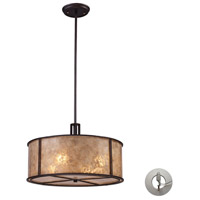 Barringer 4 Light 19 inch Aged Bronze Pendant Ceiling Light in Recessed Adapter Kit