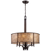 ELK 15034/6 Barringer 6 Light 24 inch Aged Bronze Chandelier Ceiling Light