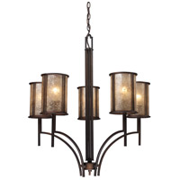 Barringer 5 Light 29 inch Aged Bronze Chandelier Ceiling Light