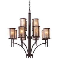 Barringer 12 Light 36 inch Aged Bronze Chandelier Ceiling Light
