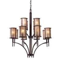 ELK 15036/8+4 Barringer 12 Light 36 inch Aged Bronze Chandelier Ceiling Light