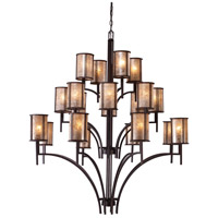 Barringer 20 Light 50 inch Aged Bronze Chandelier Ceiling Light