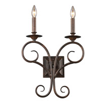 ELK Lighting Gloucester 2 Light Sconce in Antique Bronze 15040/2