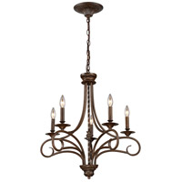ELK 15042/5 Gloucester 5 Light 24 inch Antique Bronze Chandelier Ceiling Light photo thumbnail
