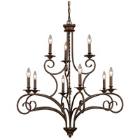 ELK Lighting Gloucester 9 Light Chandelier in Antique Bronze 15043/6+3